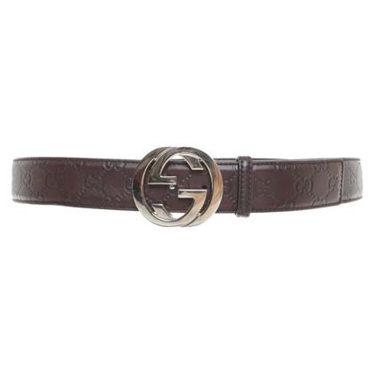 Gucci Cintura con logo nel colore marrone