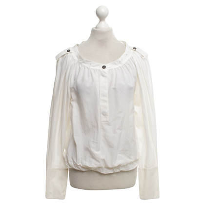 Yves Saint Laurent Bluse in Creme
