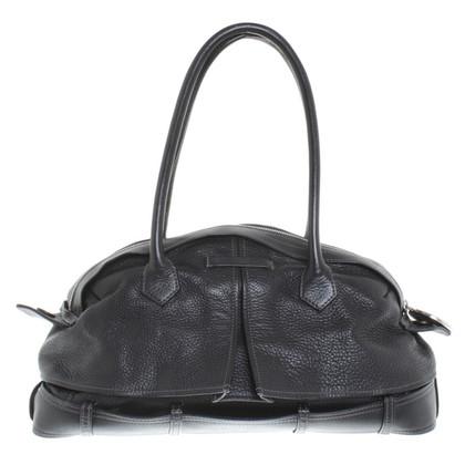 Jean Paul Gaultier Lederhandtasche in Schwarz