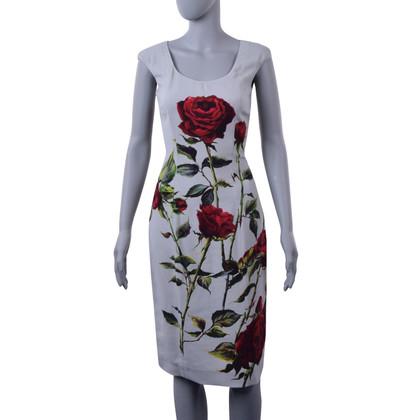 Dolce & Gabbana Jurk met rozenprint