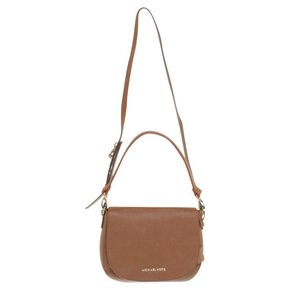 Michael Kors Cognac-colored shoulder bag made of saffiano leather