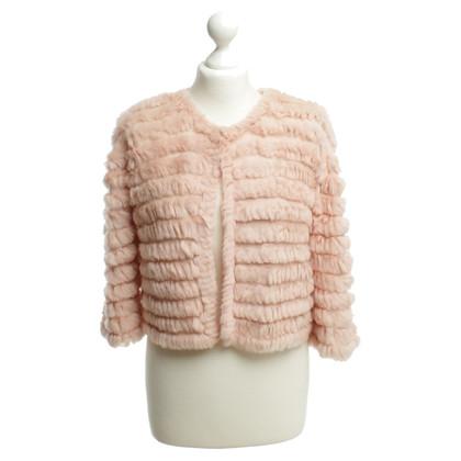 BCBG Max Azria Fur bolero jacket