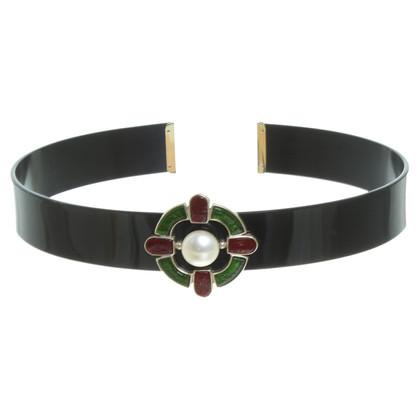 Chanel Cintura nera con applicazione
