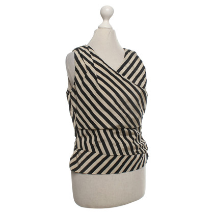 René Lezard Top with striped pattern