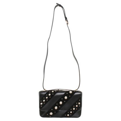 Karl Lagerfeld Sac à bandoulière noir avec perles