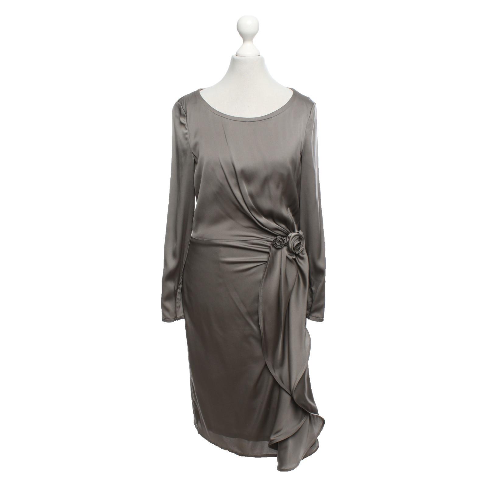 rena lange kleid in grau - second hand rena lange kleid in