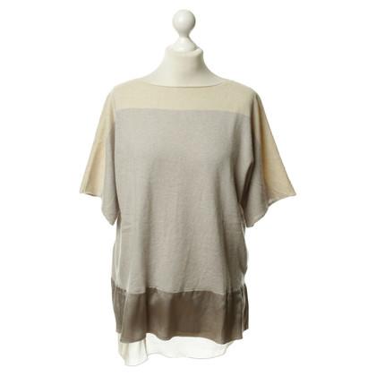 Fabiana Filippi Short-sleeved cashmere sweater in grey