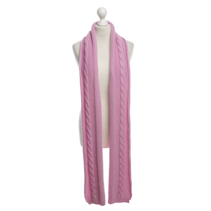 Bruno Manetti Pink cashmere scarf