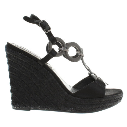 Céline Wedges in Schwarz