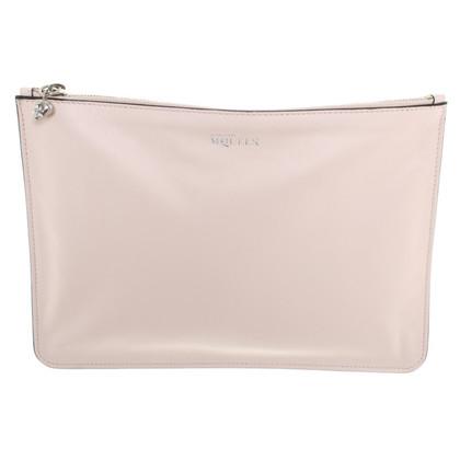 Alexander McQueen clutch in bright pink