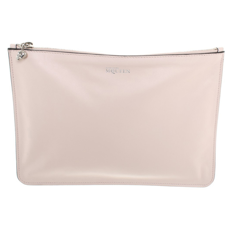 Alexander McQueen clutch in bright pink