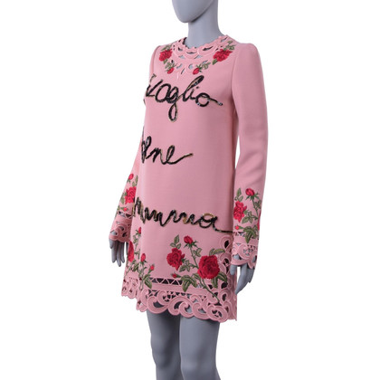 Dolce & Gabbana Dress with lace and roses embroidery