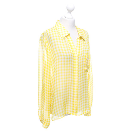 Diane von Furstenberg Silk blouse with check pattern