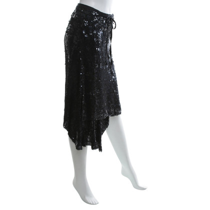 Ann Demeulemeester Wrap skirt with sequin trim