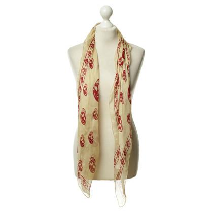 Alexander McQueen Zijden sjaal met schedel patroon