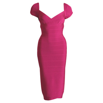 Herve Leger Form-fitting dress