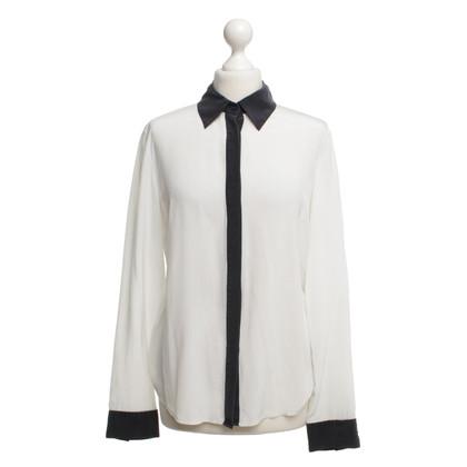 Michael Kors Two-tone zijden blouse