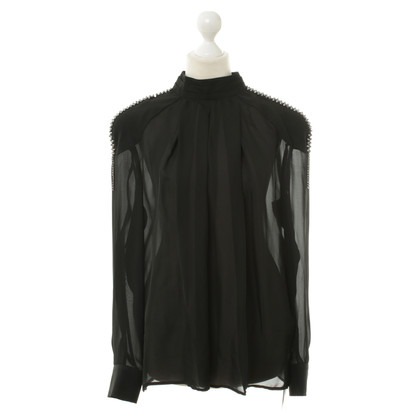 Pierre Balmain Top in seta nero