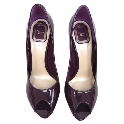 Christian Dior Peptoes made of patent leather