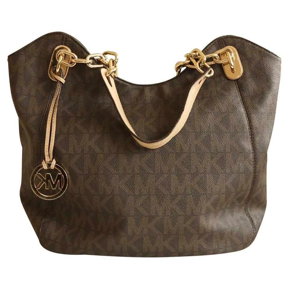 Michael Kors Shoulder bag with logo pattern - Buy Second ...
