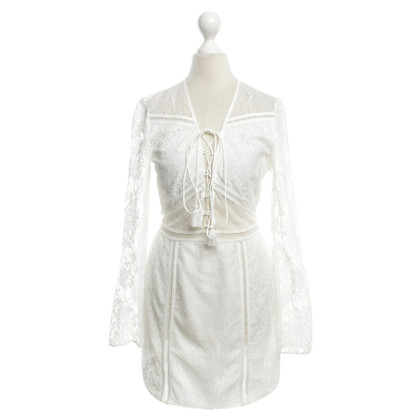Other Designer The Jetset - Lace Dress in White