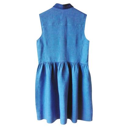 Comptoir des Cotonniers Blaues Leinen Kleid
