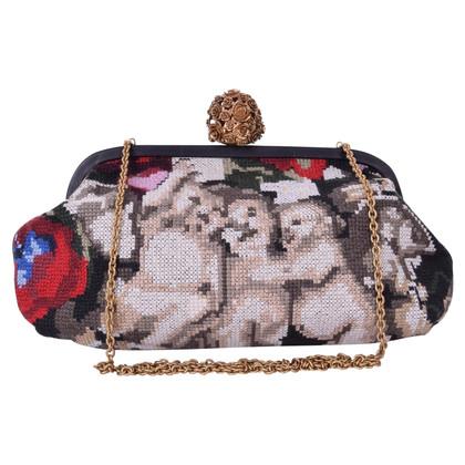 Dolce & Gabbana clutch con ricamo barocco