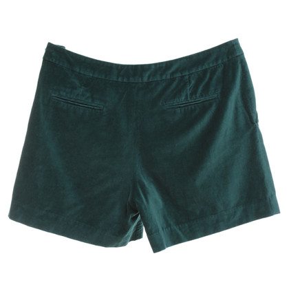 Claudie Pierlot Samt-Shorts in Grün