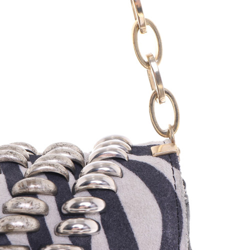 Jimmy Choo For H M Shoulder Bag In Zebra Look
