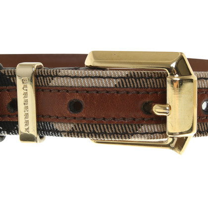 Burberry Leather belt in brown