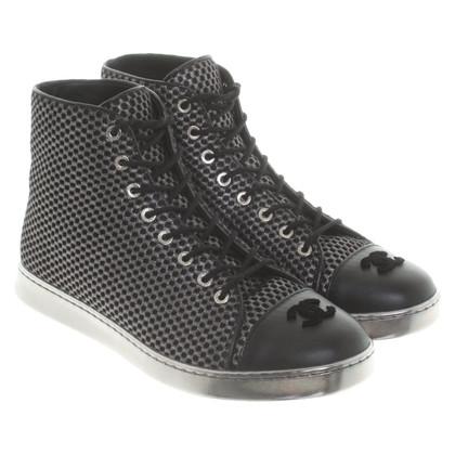 Chanel Veterschoenen in zwart / zilver