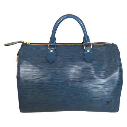 """Louis Vuitton """"Speedy 30 Epi Leder"""" in Blau"""
