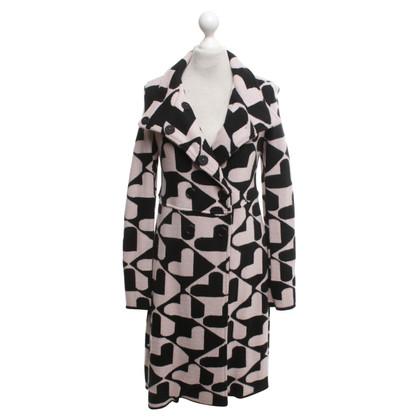 Twin-Set Simona Barbieri Knitted coat in black / rosé