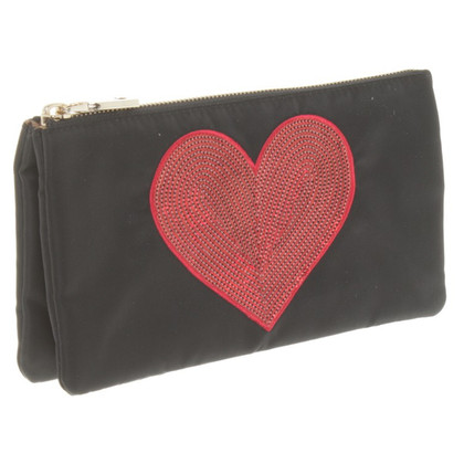 Moschino Love clutch con ricamo pailletten
