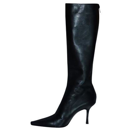 Jimmy Choo Black leather boots
