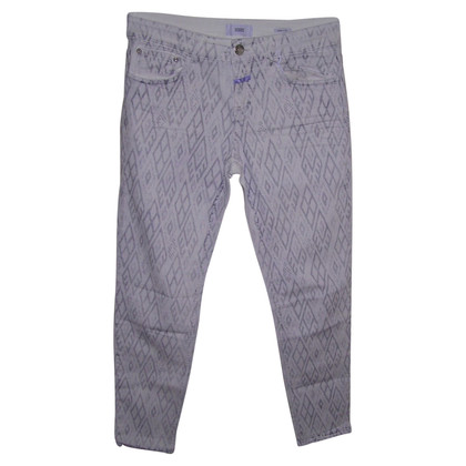 Closed Jeans bianchi con stampa