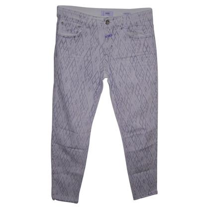Closed Weiße Jeans mit Print