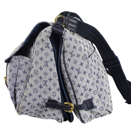 """Louis Vuitton """"Maman Monogram Mini Lin blauwe Sac"""""""