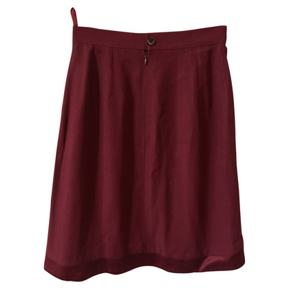 Balenciaga skirt in wine red