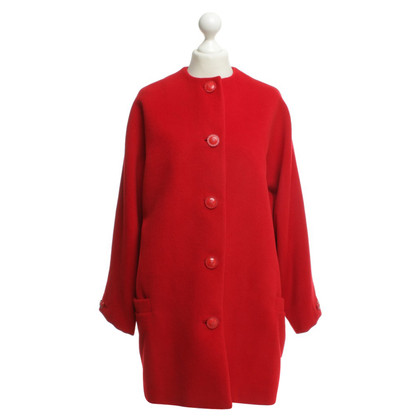 Gianni Versace Wool coat in red