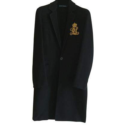 Ralph Lauren cappotto di lana nero