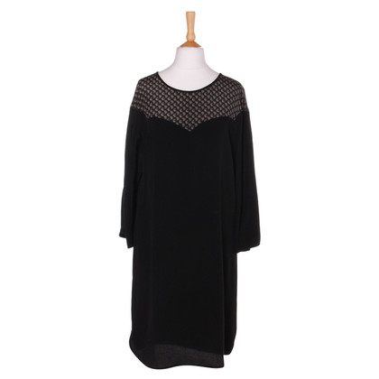 Sandro Silk dress in black