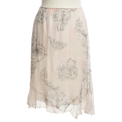 Luisa Cerano Silk skirt with ornaments