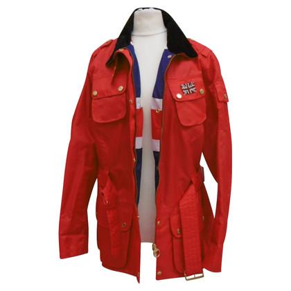 Barbour Outdoorjas in rood