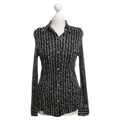 Ferre Blouse in black / white