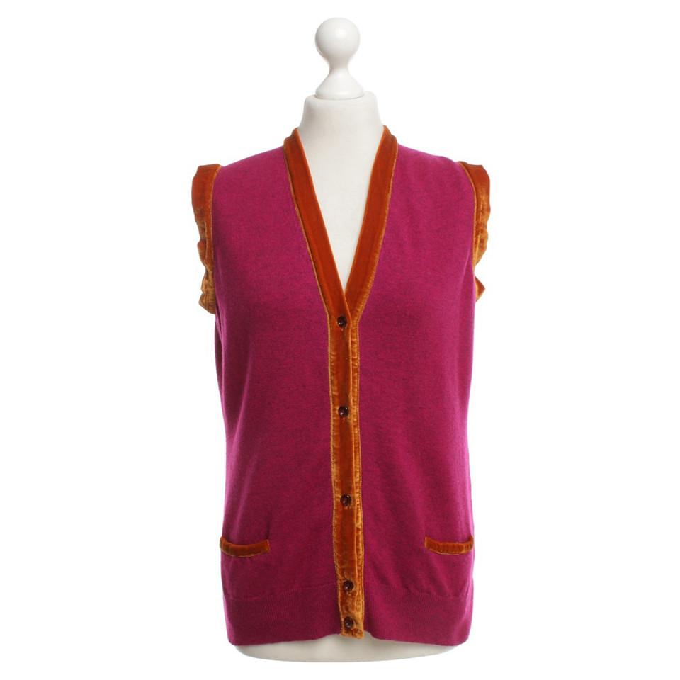 Etro Knit vest in pink / orange