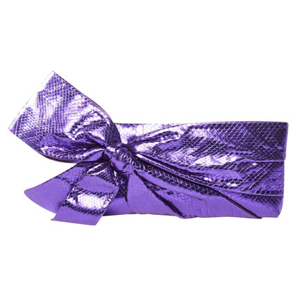 Valentino Purple Bow Clutch