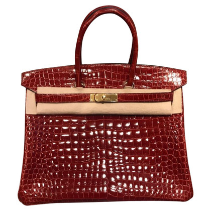 "Hermès ""Birkin Bag 35 Crocodylus Porosus Rouge H"""
