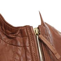 Hugo Boss Leather jacket in brown