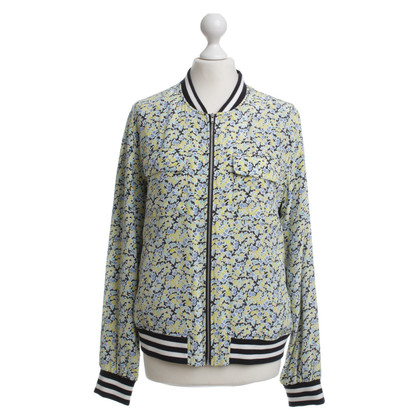 Equipment Collegejacke mit Blumenmuster